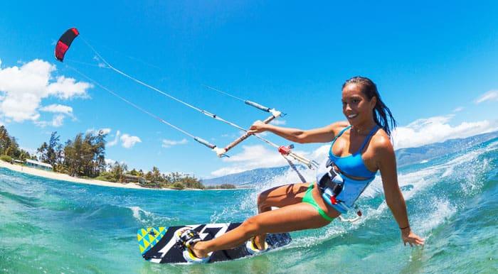 Kitesurfing er populært i Den Dominikanske Republik