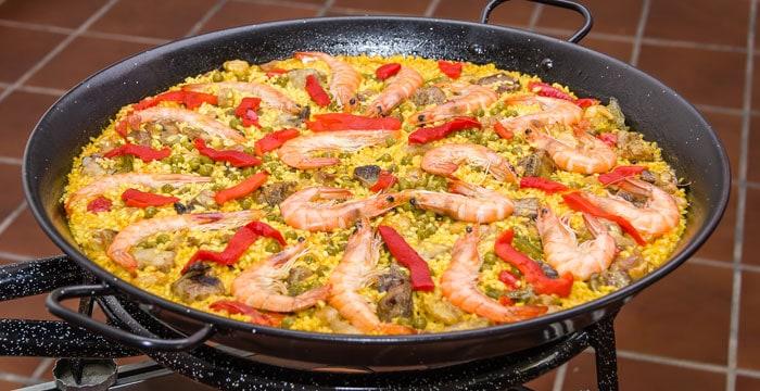 Den lækre paella er et must, når man besøger Spanien.