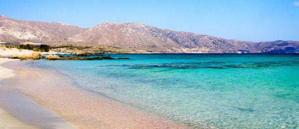 Elafonissi ligger på den sydvestlige kyst på Kreta