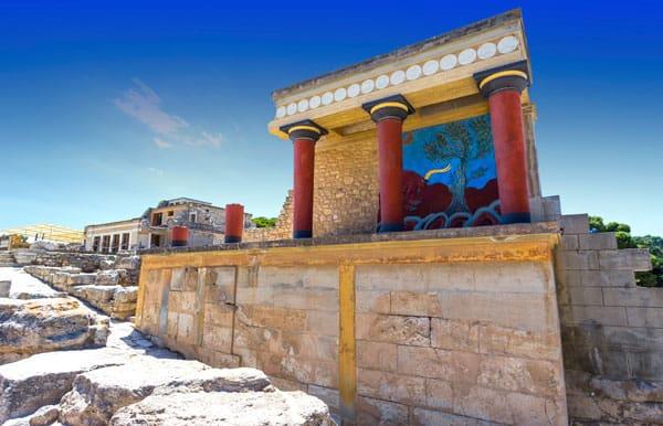 Knossos er en af Kretas absolut største seværdigheder