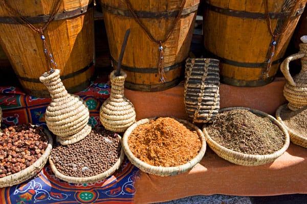 Der findes mange spændende krydderier i Egypten.